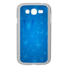Butterflies Blue Butterfly Samsung Galaxy Grand Duos I9082 Case (white) by AnjaniArt