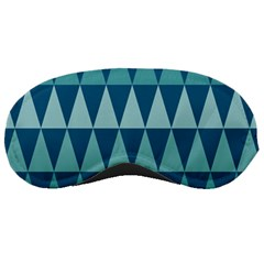 Blues Long Triangle Geometric Tribal Background Sleeping Masks by AnjaniArt