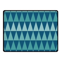 Blues Long Triangle Geometric Tribal Background Double Sided Fleece Blanket (small)  by AnjaniArt