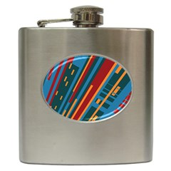 Building Hip Flask (6 Oz) by AnjaniArt