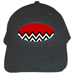 Chevron Red Black Cap