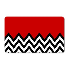 Chevron Red Magnet (rectangular) by AnjaniArt