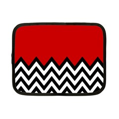 Chevron Red Netbook Case (small)  by AnjaniArt
