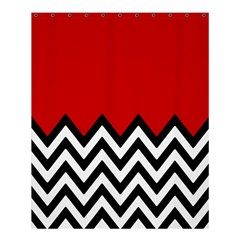 Chevron Red Shower Curtain 60  X 72  (medium)  by AnjaniArt