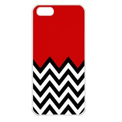 Chevron Red Apple Iphone 5 Seamless Case (white)
