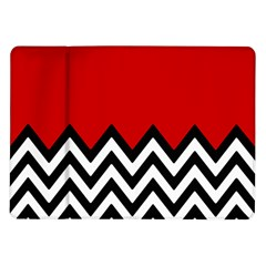 Chevron Red Samsung Galaxy Tab 10 1  P7500 Flip Case by AnjaniArt
