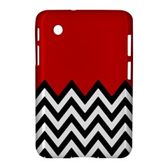 Chevron Red Samsung Galaxy Tab 2 (7 ) P3100 Hardshell Case  by AnjaniArt