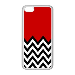 Chevron Red Apple Iphone 5c Seamless Case (white)