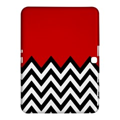 Chevron Red Samsung Galaxy Tab 4 (10 1 ) Hardshell Case  by AnjaniArt