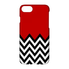 Chevron Red Apple Iphone 7 Hardshell Case by AnjaniArt