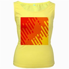 Color Minimalism Red Yellow Women s Yellow Tank Top by AnjaniArt