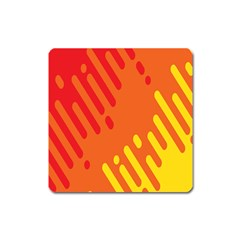 Color Minimalism Red Yellow Square Magnet by AnjaniArt