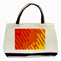 Color Minimalism Red Yellow Basic Tote Bag (two Sides)