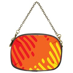 Color Minimalism Red Yellow Chain Purses (one Side)  by AnjaniArt