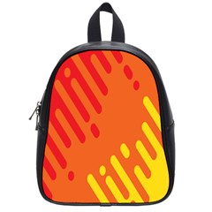 Color Minimalism Red Yellow School Bags (small)  by AnjaniArt