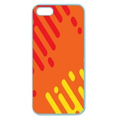 Color Minimalism Red Yellow Apple Seamless Iphone 5 Case (color)