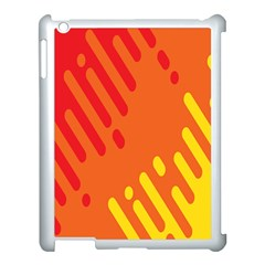 Color Minimalism Red Yellow Apple Ipad 3/4 Case (white)
