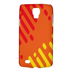 Color Minimalism Red Yellow Galaxy S4 Active by AnjaniArt
