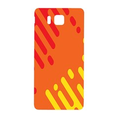 Color Minimalism Red Yellow Samsung Galaxy Alpha Hardshell Back Case