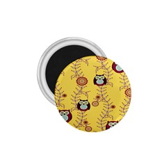 Cheery Owls Yellow 1 75  Magnets