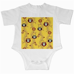 Cheery Owls Yellow Infant Creepers