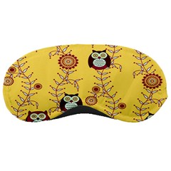 Cheery Owls Yellow Sleeping Masks