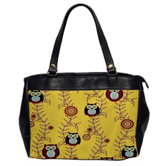 Cheery Owls Yellow Office Handbags by AnjaniArt