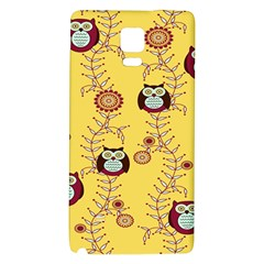 Cheery Owls Yellow Galaxy Note 4 Back Case by AnjaniArt