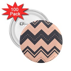 Chevron Ideas Gray Colors Combination 2 25  Buttons (100 Pack)