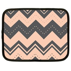 Chevron Ideas Gray Colors Combination Netbook Case (large) by AnjaniArt