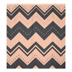 Chevron Ideas Gray Colors Combination Shower Curtain 66  X 72  (large)  by AnjaniArt