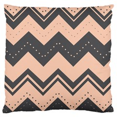 Chevron Ideas Gray Colors Combination Large Cushion Case (two Sides)