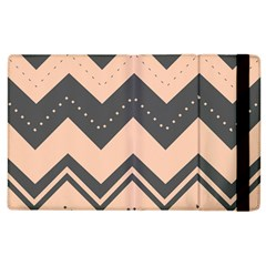 Chevron Ideas Gray Colors Combination Apple Ipad 3/4 Flip Case by AnjaniArt