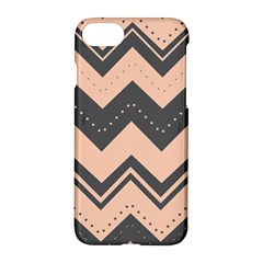 Chevron Ideas Gray Colors Combination Apple Iphone 7 Hardshell Case by AnjaniArt