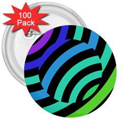 Colorful Roulette Ball 3  Buttons (100 Pack)
