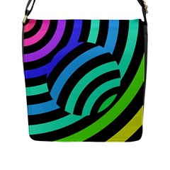 Colorful Roulette Ball Flap Messenger Bag (l)  by AnjaniArt