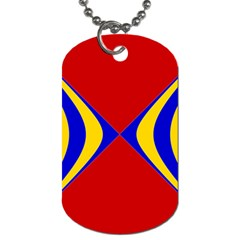 Concentric Hyperbolic Red Yellow Blue Dog Tag (two Sides)