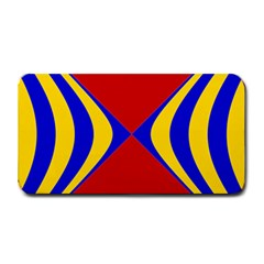 Concentric Hyperbolic Red Yellow Blue Medium Bar Mats