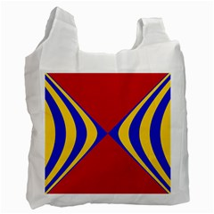 Concentric Hyperbolic Red Yellow Blue Recycle Bag (two Side)  by AnjaniArt