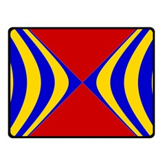 Concentric Hyperbolic Red Yellow Blue Fleece Blanket (small)