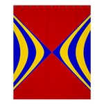 Concentric Hyperbolic Red Yellow Blue Shower Curtain 60  x 72  (Medium)  54.25 x65.71  Curtain