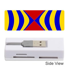 Concentric Hyperbolic Red Yellow Blue Memory Card Reader (stick)  by AnjaniArt