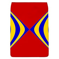 Concentric Hyperbolic Red Yellow Blue Flap Covers (l)  by AnjaniArt