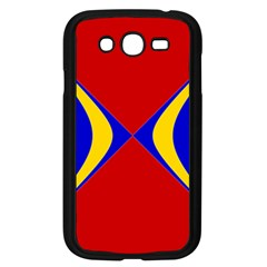 Concentric Hyperbolic Red Yellow Blue Samsung Galaxy Grand Duos I9082 Case (black) by AnjaniArt