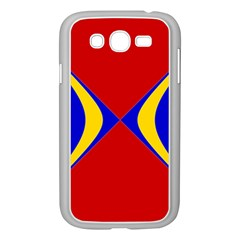 Concentric Hyperbolic Red Yellow Blue Samsung Galaxy Grand Duos I9082 Case (white) by AnjaniArt