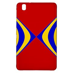 Concentric Hyperbolic Red Yellow Blue Samsung Galaxy Tab Pro 8 4 Hardshell Case by AnjaniArt