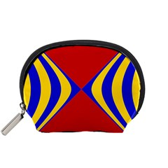 Concentric Hyperbolic Red Yellow Blue Accessory Pouches (small)