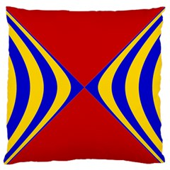 Concentric Hyperbolic Red Yellow Blue Standard Flano Cushion Case (one Side)