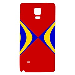 Concentric Hyperbolic Red Yellow Blue Galaxy Note 4 Back Case by AnjaniArt