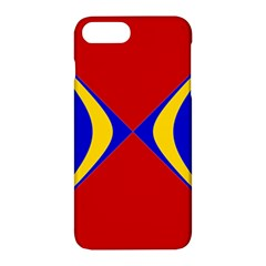 Concentric Hyperbolic Red Yellow Blue Apple Iphone 7 Plus Hardshell Case by AnjaniArt